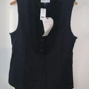 NWT Current / Elliott Danby Black Buttondown Shirt
